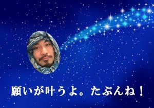 流れ星にお願いしました。